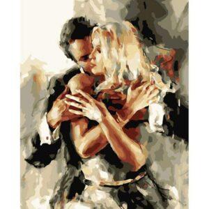Lover's Embrace - Portrait Art Paint by Numbers