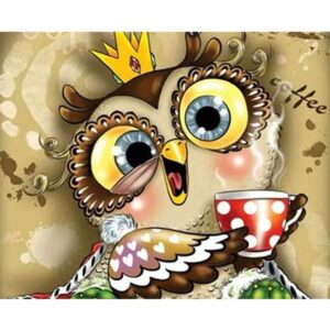 Morning Owl - Paint by Numbers for Kids