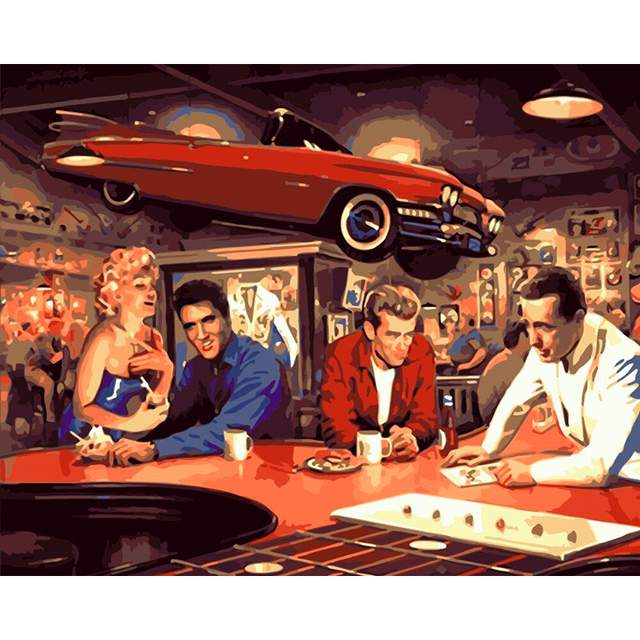 Movie Stars in Casino - Paint by Numbers Movie