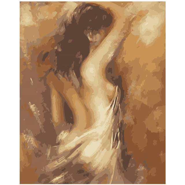 Nude Lady with a Veil - Paint by Numbers for Adults