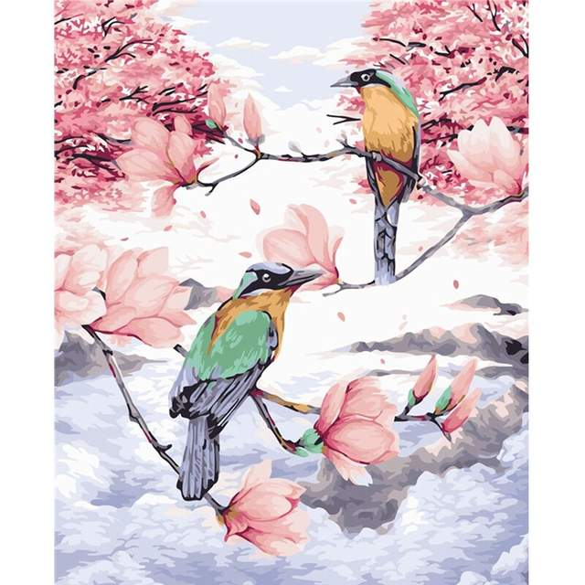Paradise Birds - Paint by Numbers Kit