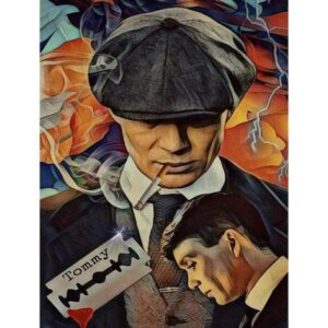 Peaky Blinders Vintage Poster - Film Painting by Numbers Kit