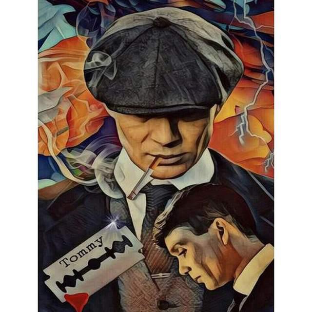 Peaky Blinders Vintage Poster - Film Painting by Numbers Kit