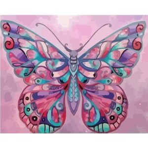 Pink Color Butterfly - Animals Paint by Numbers