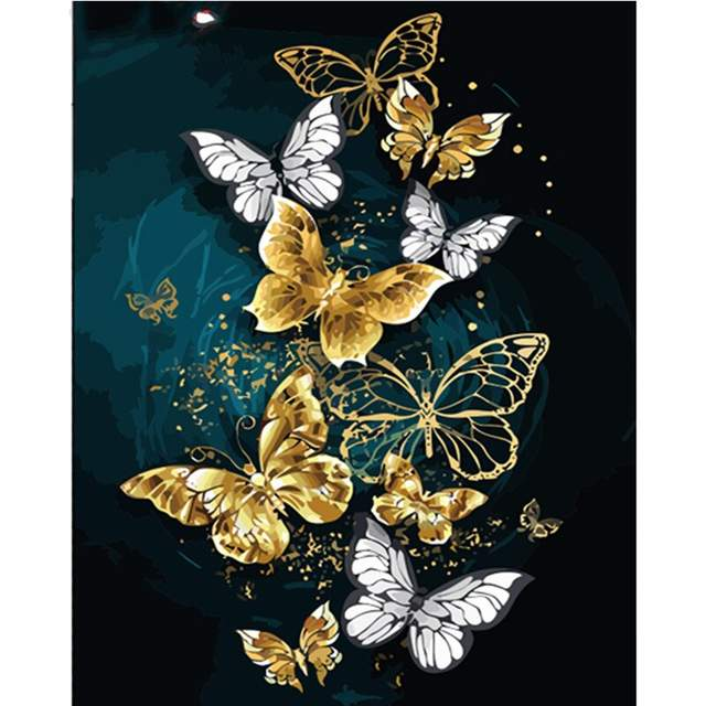 Pretty Butterflies - Paint by Numbers Animals