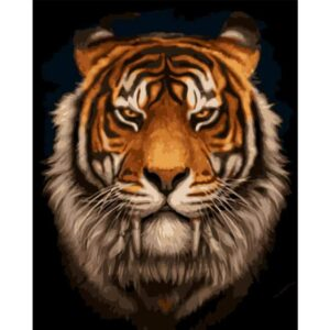 Saber Toothed Tiger - Paint by Numbers Animals