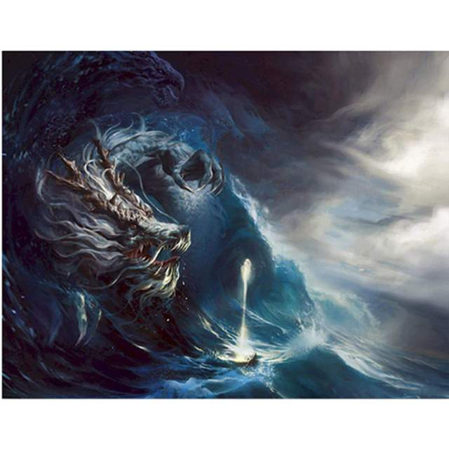 Sea Monster - Ocean Color by Number