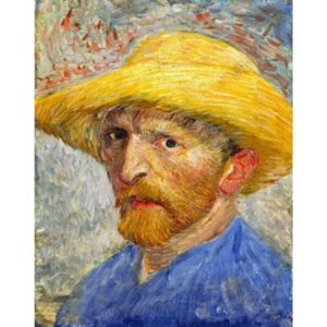 Self Portrait with Straw Hat by Vincent Van Gogh 1887 - Famous Paint by Numbers
