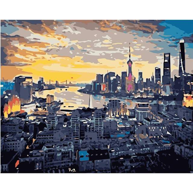 Shanghai Skyline - Cities Paint by Numbers