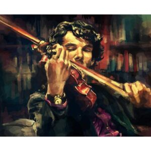 Sherlock Holmes Play the Violin - Movie Paint by Numbers