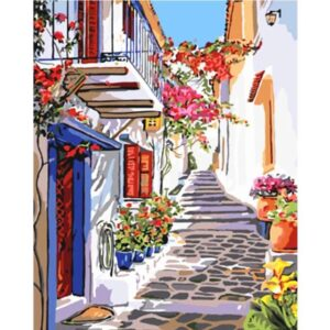 Street of Island Crete Greece - Paint by Number European Cities