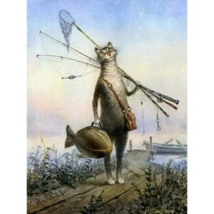 The Cat Fisherman - Paint by Numbers Animals