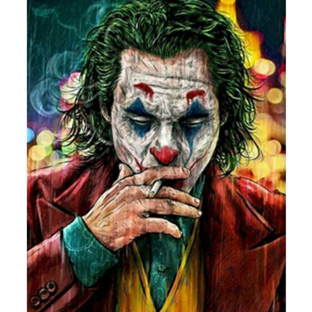 The Joker Smokes a Cigarette - Film Paint by Numbers Kits