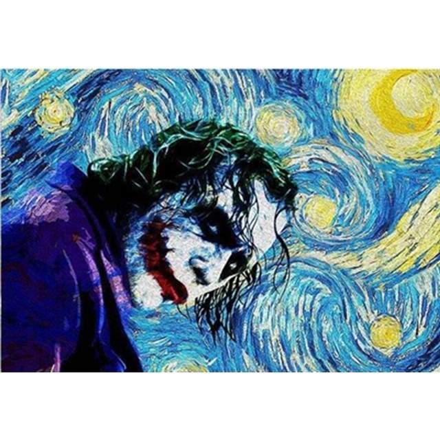 The Joker in Starry Night by Van Gogh - Paint by Numbers Movie