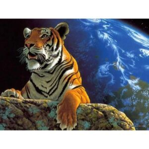 Tiger on Planet Earth - Wildlife Paint by Numbers