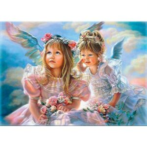 Two Little Angels - Portrait Art Paint by Numbers