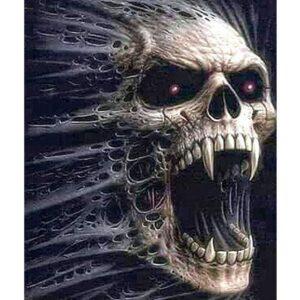 Vampire Skull - Paint by Numbers Halloween