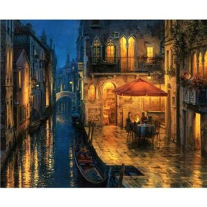 Venetian Cafe at Night - Paint by Numbers Europe