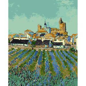 View of Saintes-Maries-De-La-Mer by Vincent van Gogh 1888 - Paint by Numbers
