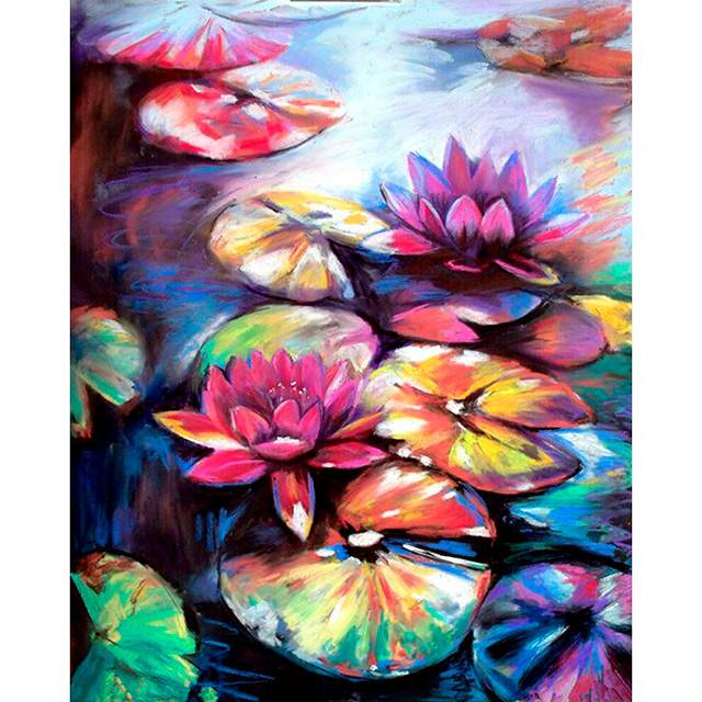Water Lilies - Flower Paint by Numbers for Adults