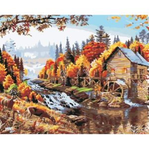 Water Mill - Painting by Numbers for Adults