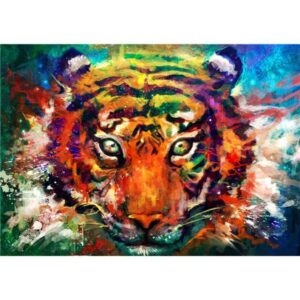 Watercolor Tiger Head - Paint by Numbers Animals