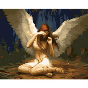 White Angel - Religious Paint by Numbers