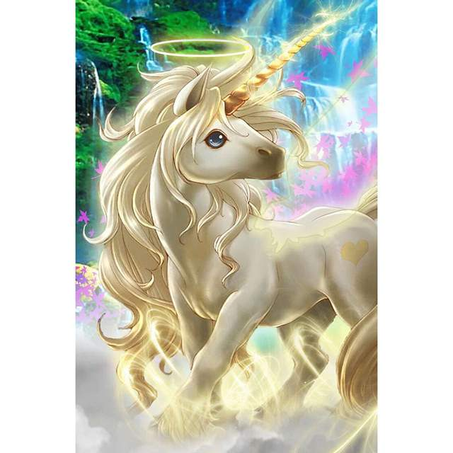 White Baby Unicorn - Paint by Number Horse