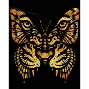 Abstract Tiger Face Butterfly - Paint by Numbers Butterfly