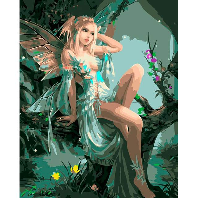 Beautiful Fairy Elf - Paint by Number Fairy