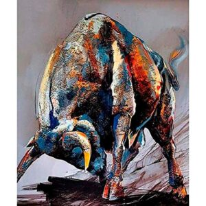 Bull Paint by Numbers - Furious Bull