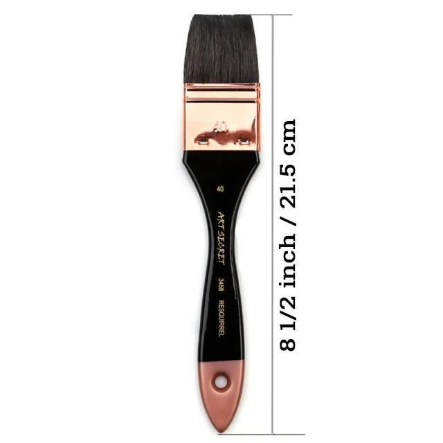 Professional Flat Brush for Acrylic Painting Size 40mm