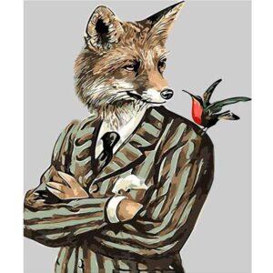 Gentleman Fox - Fox Paint by Number Kit