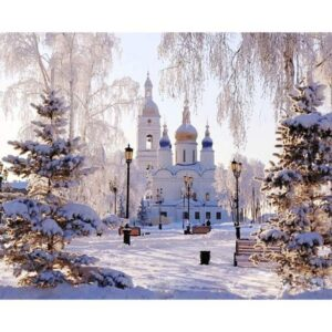 Paint by Numbers Church - Saint Sophia Cathedral in Winter