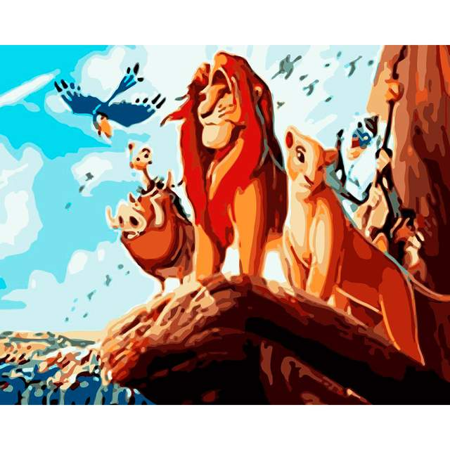 The Lion King - Paint by Numbers Cartoon