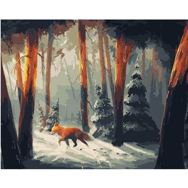 Winter Fox - Paint by Numbers Fox